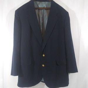 Navy Blue stafford GOLD BUTTON blazer
